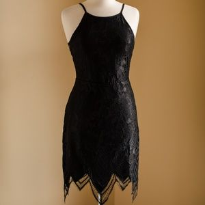 BRAND NEW - Nordstrom Misguided Black Lace Dress